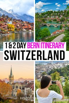 Planning your first trip to Switzerland? This Bern itinerary will show you how to see the most important Bern sites! one day in bern itinerary Europe Travel Guide, Europe Destinations, Travel Guides, Switzerland Itinerary, Switzerland Vacation, Switzerland Places To Visit, Berlin, Europe Bucket List, European Travel