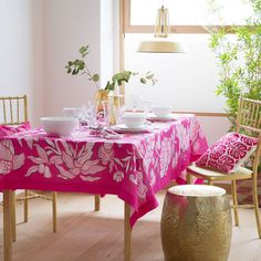 Zara Home New Collection Pink Kitchen, Zara Home, Linens And Lace, Home Accessories, Kitchen Table Decor, Printed Linen, Table Decorations, Table Cloth, Table Covers
