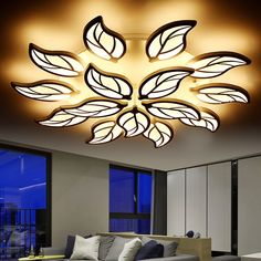 96.00$ Buy now - http://aliclm.shopchina.info/go.php?t=32794966866 - Modern LED Ceiling Lights for living room bedrooms flower shape ceiling lamp LED AC90-265V remote controller LED ceiling lamps 96.00$ #aliexpressideas