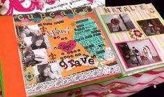 Sorority scrapbook representing who I am. Took my home state and wrote a quip about myself on it. (my first scrapbook page ever!)