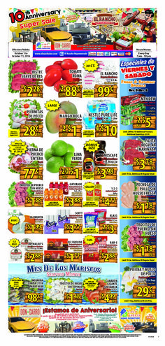 El Rancho Weekly Ad October 5 - 11, 2016 - http://www.olcatalog.com/grocery/el-rancho-weekly-ad.html