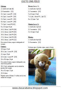 Mini Amigurumis paso a paso, Patrones en español Crochet Animal Patterns, Crochet Patterns Amigurumi, Crochet Animals, Crochet Dolls, Doll Patterns, Crochet Bear, Free Crochet, Baby Embroidery, Crochet For Beginners