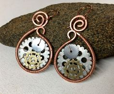 A personal favorite from my Etsy shop https://www.etsy.com/listing/502055575/copper-steampunk-earrings