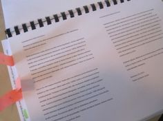 The manuscript of our book.