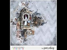Mixed Media Vintage Style Layout for 7 Dots Studio - YouTube