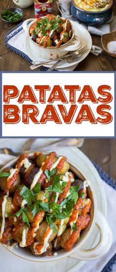 These Patatas Bravas are roasted, not fried, which makes them both easier and healthier! You'll love the easy tomato sauce -- the leftovers taste great on just about everything! #weightlosstips