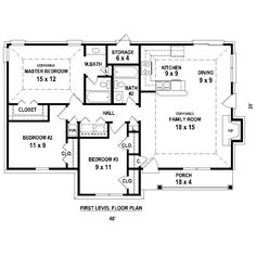 Image Result For Simple 3 Bedroom House Plans Without Garage 1
