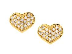 Heart Stud Earrings.