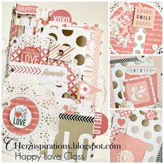Cherinspirations - A Happy Love Class kit using Teresa Collins You are my happy collection - new in store and on sale $29.00usd