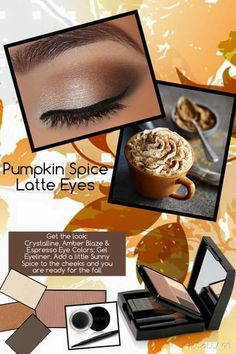Pumpkin spice latte eyes