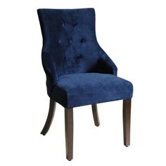 Create a statement in any room with this attractive and handsome navy textured woven accent chair from HomePop.