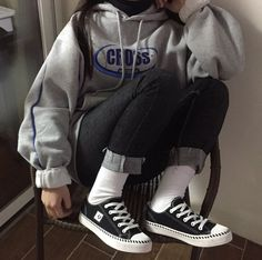Shoes #shoes #canvas #2365 Indie Outfits, Edgy Outfits, Korean Outfits, Retro Outfits, Grunge Outfits, Cute Casual Outfits, Vintage Outfits, Fashion Outfits, Hijab Fashion
