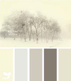 winter palette- for the bedroom. Just add a touch of black, white and wood. Love this for the quest room!