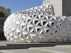 ArboSkin spiky facade made from bioplastics by ITKE