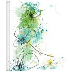 Jan Weiss 'Green Botanica' Gallery-Wrapped Canvas | Overstock™ Shopping - Top Rated ArtWall Canvas