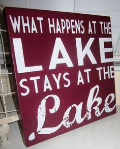 Custom Wood Sign Lake House Sign beach house by KendrasKreations, $33.95