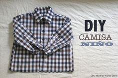 DIY Costura de camisa para bebe niño (patrón gratuito incluido) - Oh, Mother Mine DIY!!