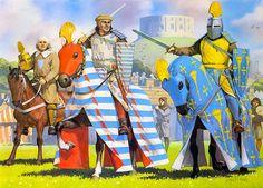 """Windsor, 1278""   • Pembroke's squire • William de Valence, Earl of Pembroke • Roger de Trumpington"