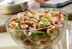 San Antonio Shrimp & Shells Salad (use whole wheat pasta, light or non-fat mayo, and lots of tomatoes)