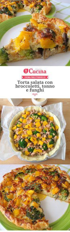 Torta salata con #broccoletti, #tonno e #funghi della nostra utente Magdalena. Unisciti alla nostra Community ed invia le tue ricette!
