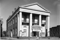 """The Greek Revival """"Thespian Hall"""" in historic Boonville was built from 1855 - 1857.  It is said to be the oldest continuously running theatre west of the Allegheny Mountains."""