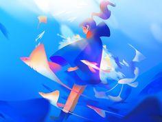 Underwater by Jenny Yu #Design Popular #Dribbble #shots