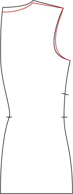 "small ""quick"" swayback adjustment by pivoting the back neck down, using the shoulder point as the pivot (remembering to re-square the CB neckline to the CB seam)."