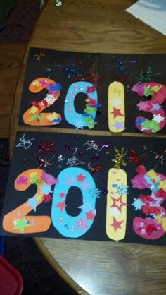 A Shiny New Year  2014 Signs - Extra Craft