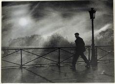 Edith Gérin, Paris - Pont des Arts, 1950
