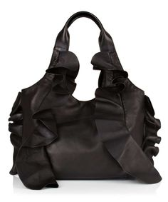 Valentino Large frills bag in black, Designer Bags Sale, Valentino bags & accessories , Secret Sales