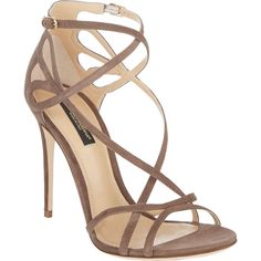 Dolce & Gabbana Cutout Crisscross-Straps Keira Sandals at Barneys.com