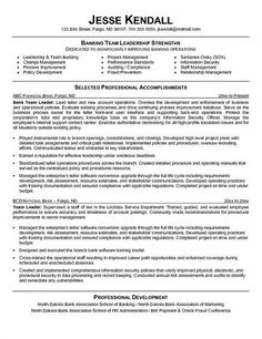 Bank Teller Resume With No Experience - http://topresume.info/bank ...