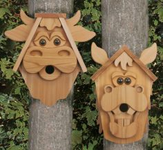 Crazy Cedar Men Birdhouse Plans. Trace & Cut full sized prints ...