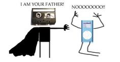 Funny photos funny cassette iPod Im your father Obi Wan, Geeks, The Awful Truth, Thursday Humor, Throwback Thursday, Tech Humor, Geek Humour, Technology Humor, Music Humor