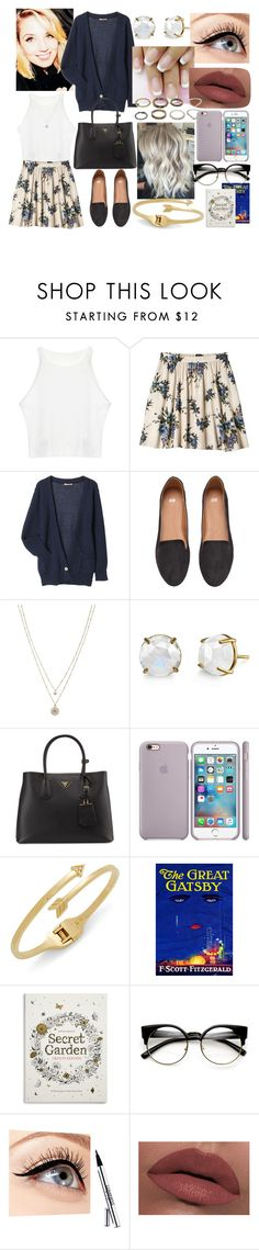 """""""martha"""" by nothing-better-than-a-riddle ❤ liked on Polyvore featuring Xhilaration, H&M, LC Lauren Conrad, Irene Neuwirth, Prada, Rebecca Minkoff, Gatsby, ZeroUV, Luminess Air and LORAC"""