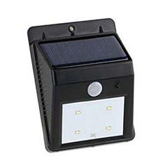 ไฟติดผนังโซล่าเซลล์ 4 SMD LED Motion sensor 6 Solar Security Light, Solar Wall Lights, Led, Solar Powered Security Light
