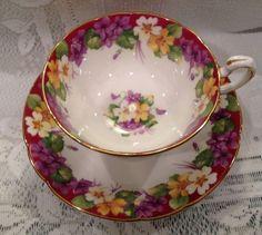 Vintage PARAGON Fine Bone China Tea Cup & Saucer - English by chandra