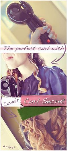 Perfect curls in your hair! With Conair Curl Secret #ConairHair #cbias #shop