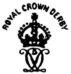 Antique Royal Crown Derby  / The crown was first used in the mark that appeared on Derby porcelain in 1775 after the permission of King George III. The words Made in England were used after 1921. The company became part of the Allied English Potteries Group in 1964.