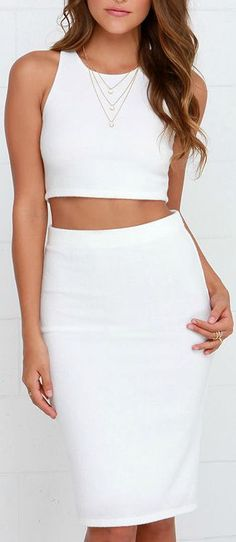 df674fbab9 City Breeze Ivory Two-Piece Midi Dress