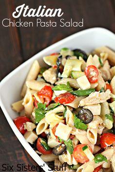 Italian Chicken Pasta Salad / Six Sisters' Stuff