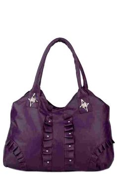 Studded Faux Leather Pleated Shoulder Bag (FD50061)£15.99