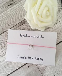 Hen Party Favours Gifts Wish Bracelets Personalised Bride Tribe