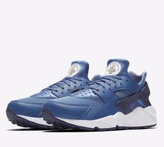 Nike Air Huarache Mens Running Shoes 10 Blue Moon Pale Grey Raisin 318429 414 #Nike #RunningCrossTraining