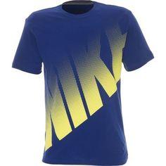 MEN'S SIZE XL NIKE T-SHIRT BIG DOT LOGO 100% COTTON SOFT BLUE & YELLOW  #Nike #GraphicTee