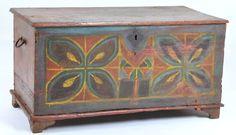 Antique Pennsylvania Dutch child's painted chest 1840