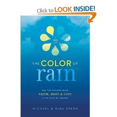 The Color of Rain, I'm currently reading this book. Oh Lordy, get out the tissues. This is about 2 families that go through tragedies and how they end up finding each other.