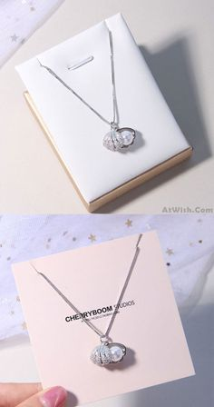 Cute Shell Girl's Necklace Shell Pearl S. - Cute Shell Girl's Necklace Shell Pearl Silver Necklace - Cute Necklace, Star Necklace, Silver Pearls, Silver Ring, Silver Jewelry, Diy Jewelry Inspiration, Couple Jewelry, Necklace For Girlfriend, Girls Necklaces