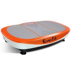 Vibration Machine Body Shaper Fitness Massage Slim1200W Double Motor Vibrating Exercise Platform Orange