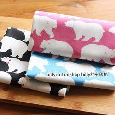 m93_45 - bear fabrics - Polar bear - cotton - Half Yard ( 3 color ) by billycottonshop0413 on Etsy